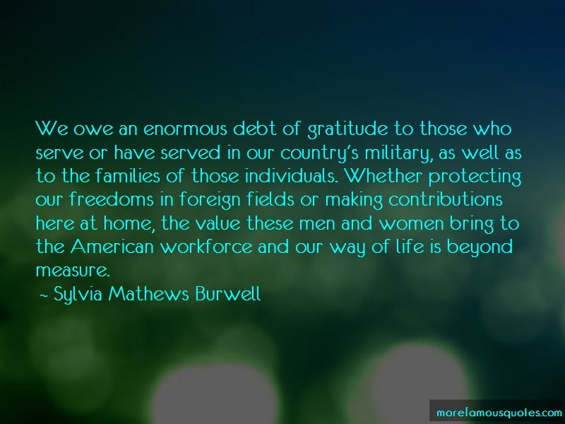 Gratitude For Military Quotes Pictures 2