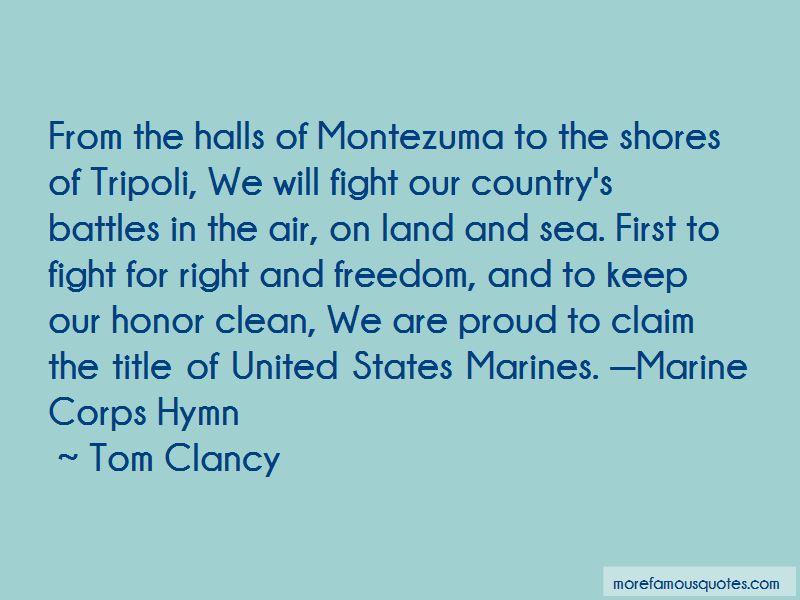 Halls Of Montezuma Quotes