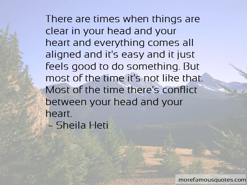 Heart And Head Conflict Quotes