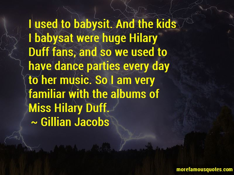 Hilary Duff Music Quotes