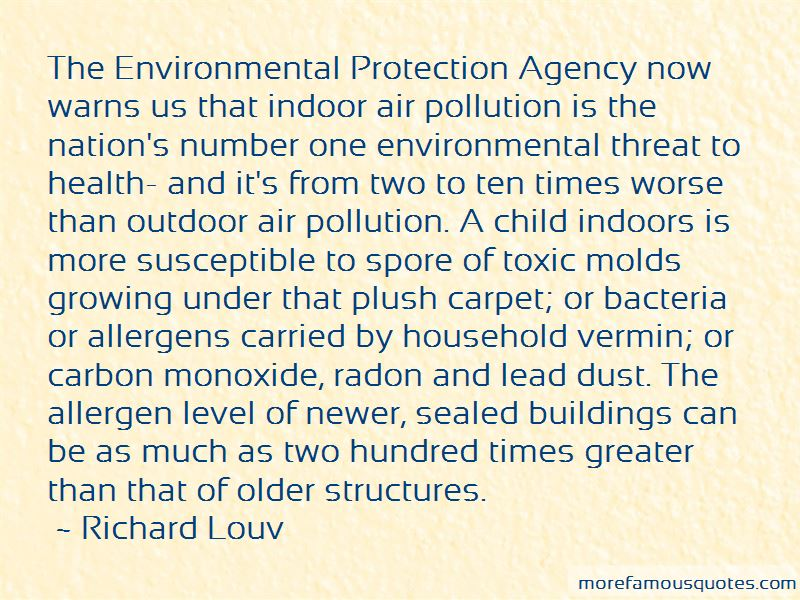 Indoor Air Pollution Quotes
