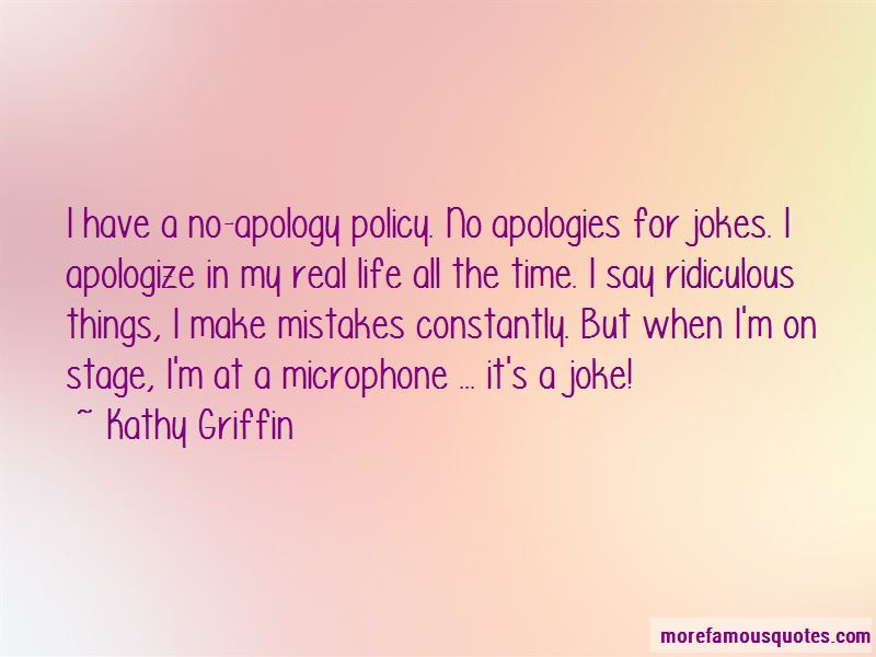 Mistakes And Apologies Quotes