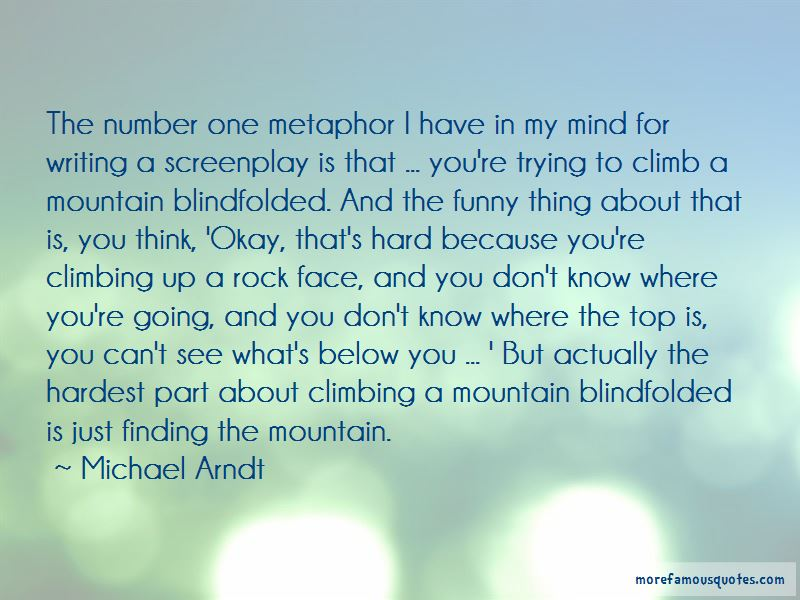 Mountain Climbing Metaphor Quotes: top 1 quotes about ...