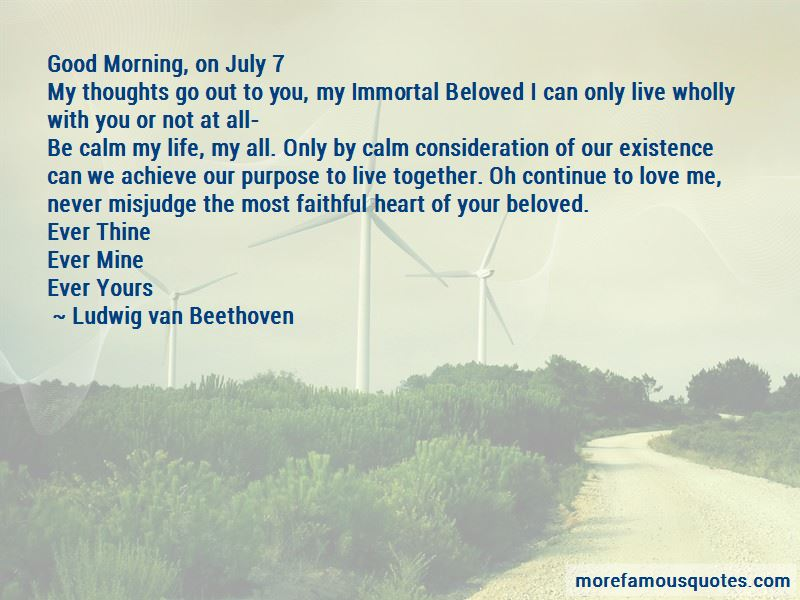 My Immortal Beloved Quotes