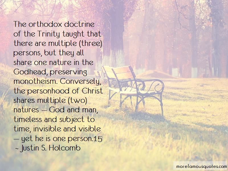 Nature Of God And The Trinity Quotes Pictures 2