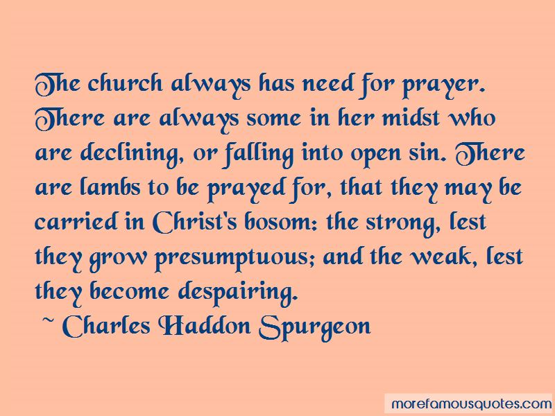 Need For Prayer Quotes
