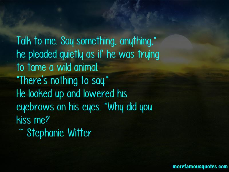 On His Eyes Quotes