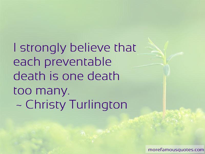 Preventable Death Quotes