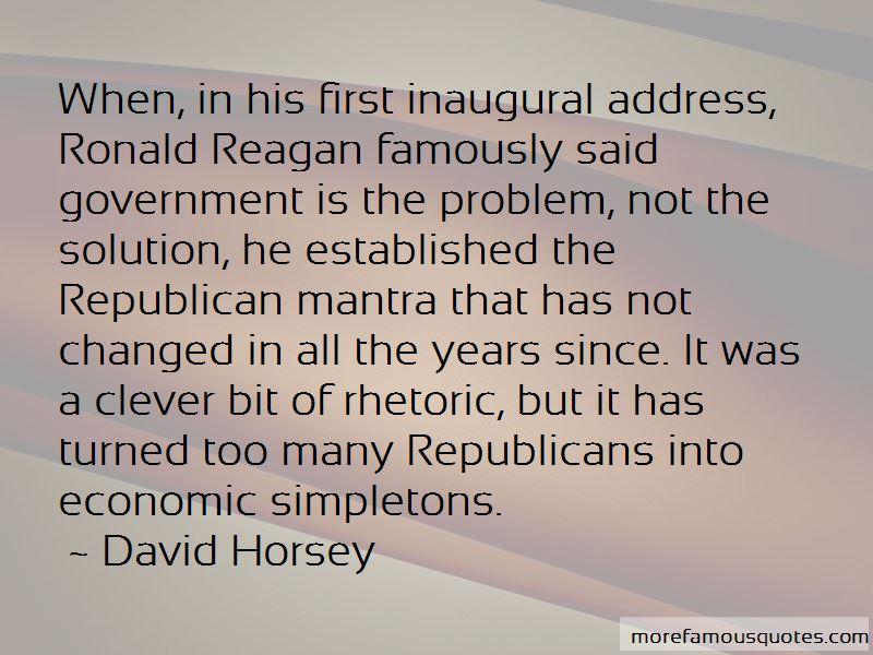 Ronald Reagan Inaugural Quotes