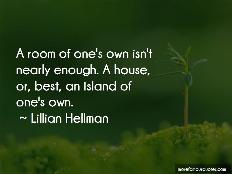 Room Of One's Own Quotes
