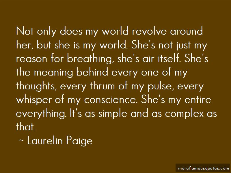 She Is My World Quotes
