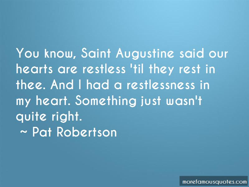 St Augustine Restlessness Quotes