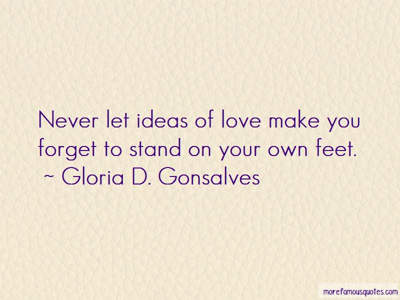 Stand On Your Own Feet Quotes