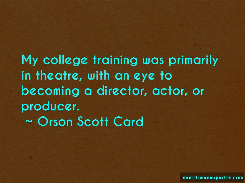 Theatre Producer Quotes