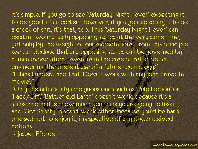 Travolta Saturday Night Fever Quotes
