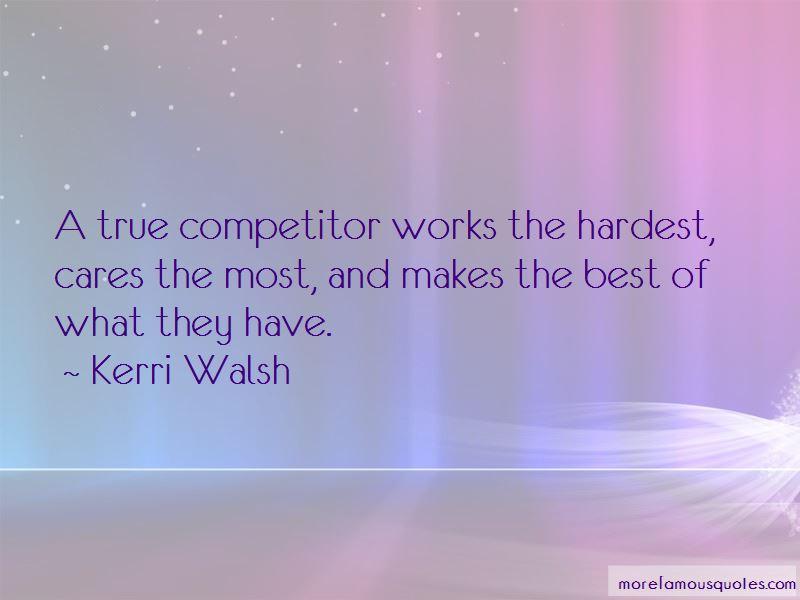 True Competitor Quotes