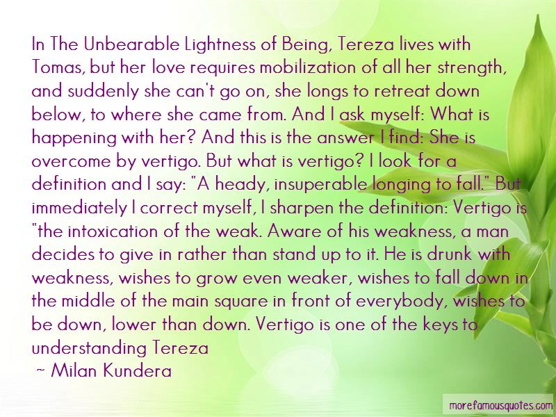 Unbearable Lightness Of Being Tereza Quotes