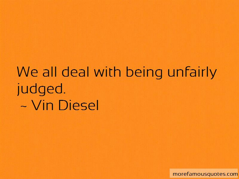 Unfairly Judged Quotes