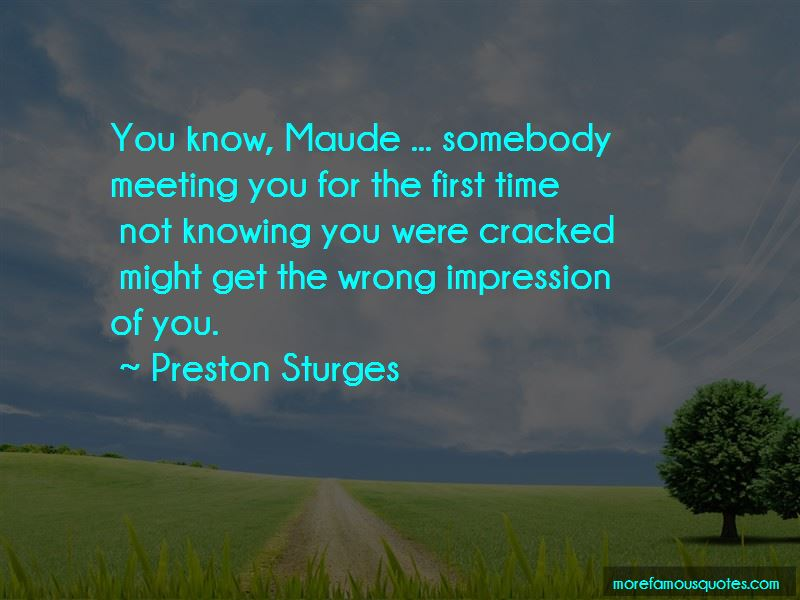 Wrong First Impression Quotes