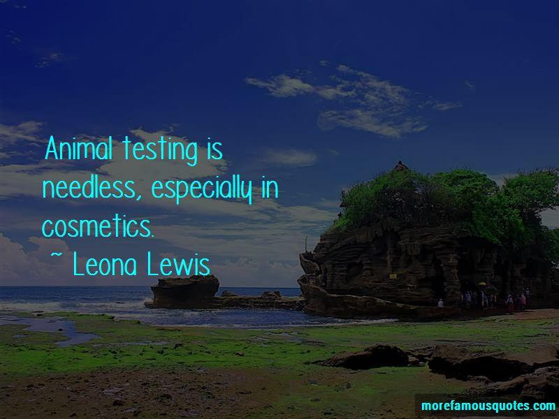 Animal Testing Cosmetics Quotes