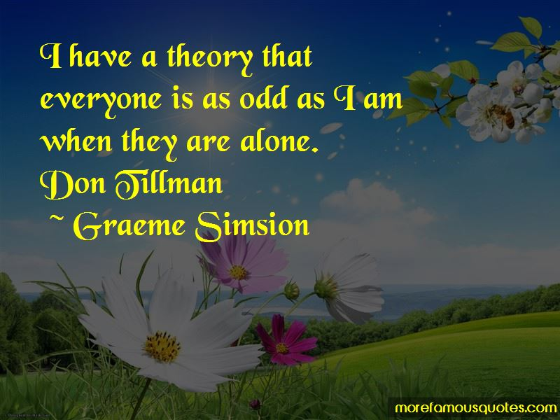 Don Tillman Quotes