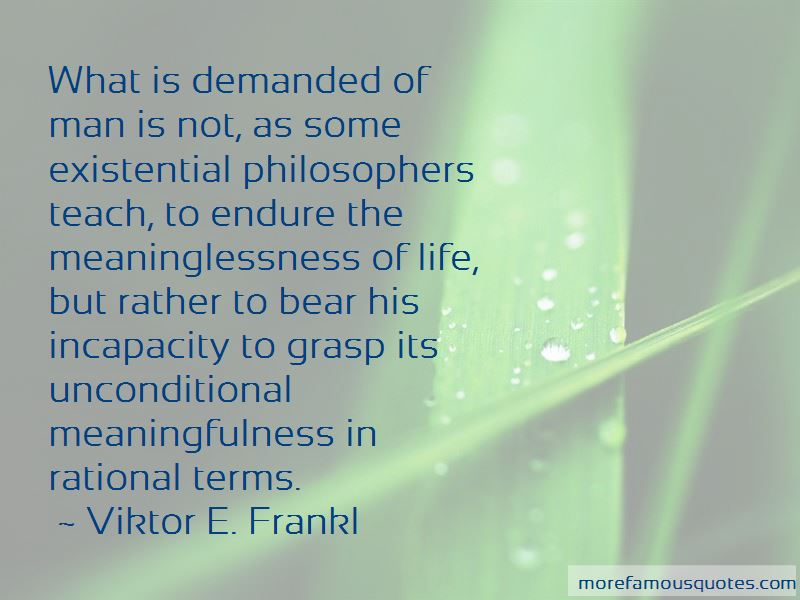 Existential Meaninglessness Quotes Pictures 2