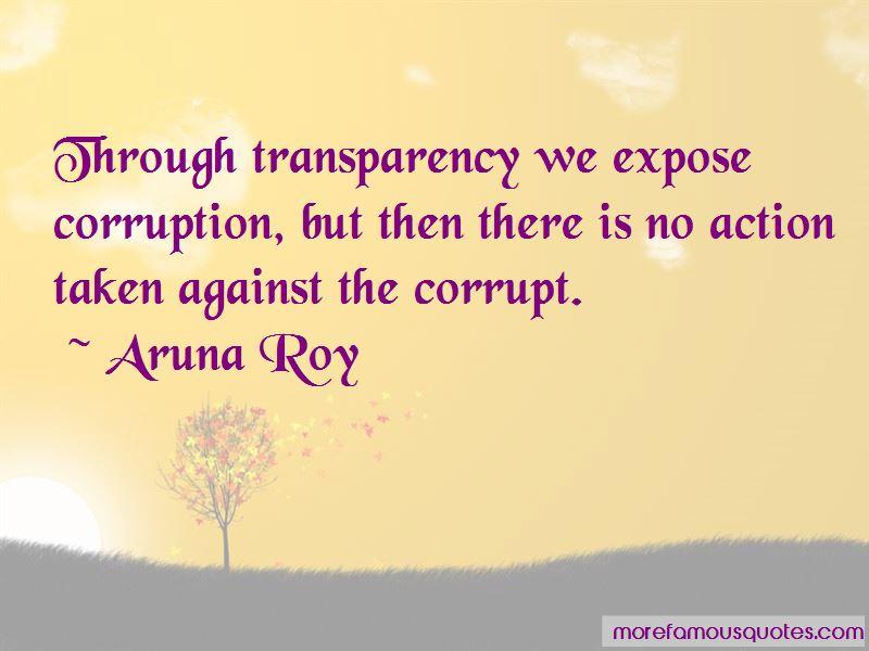 Expose Corruption Quotes