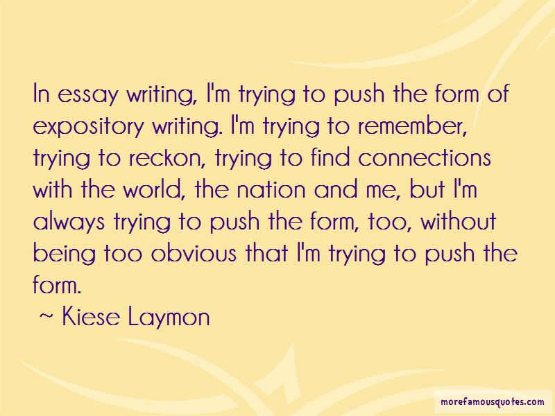 Expository Essay Quotes
