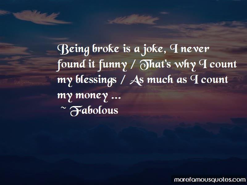 Funny Money Broke Quotes