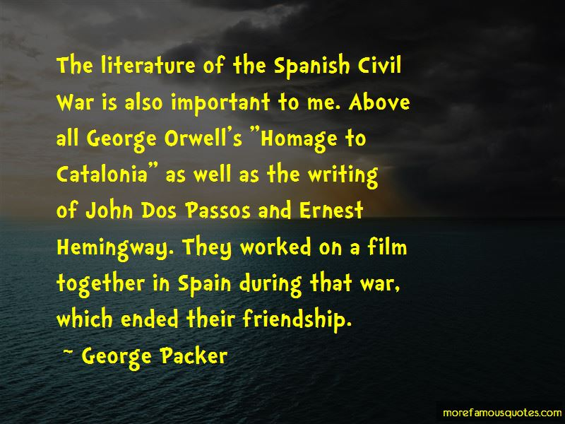 Homage To Catalonia Quotes
