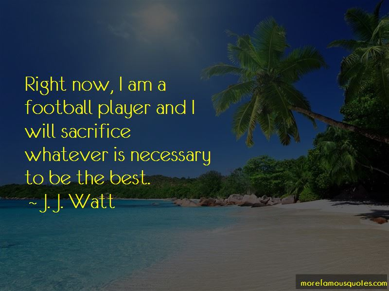 I Am A Football Player Quotes