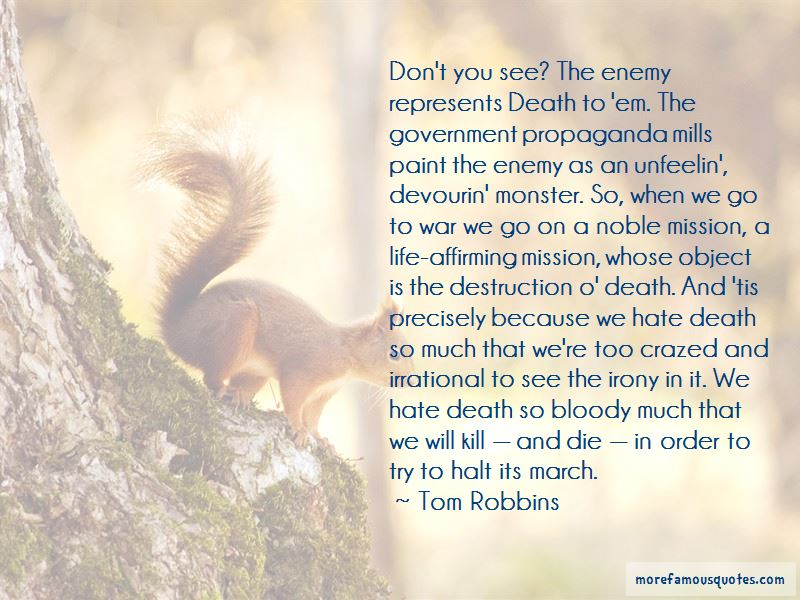 Irony Of Life And Death Quotes