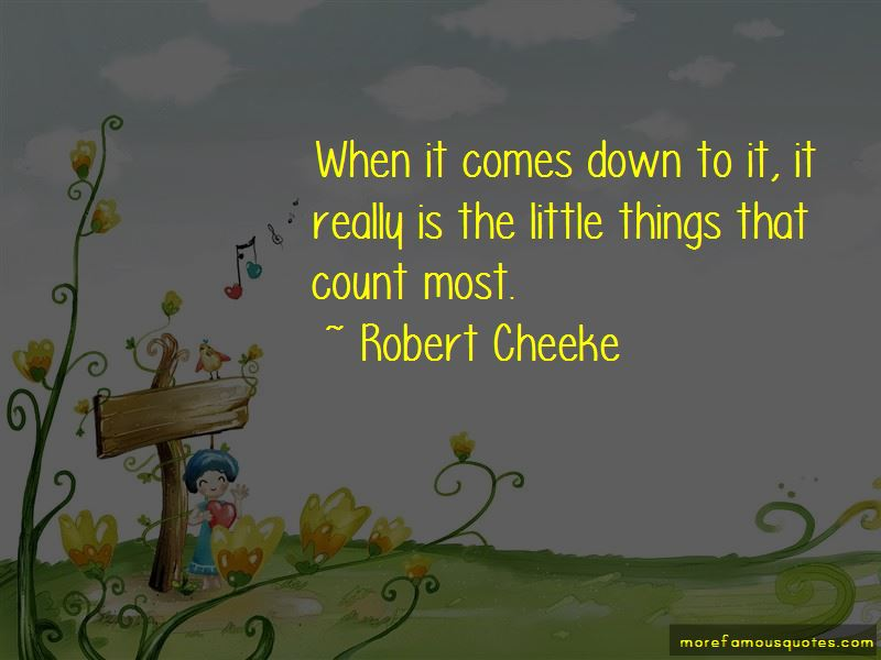 Little Things Count Quotes