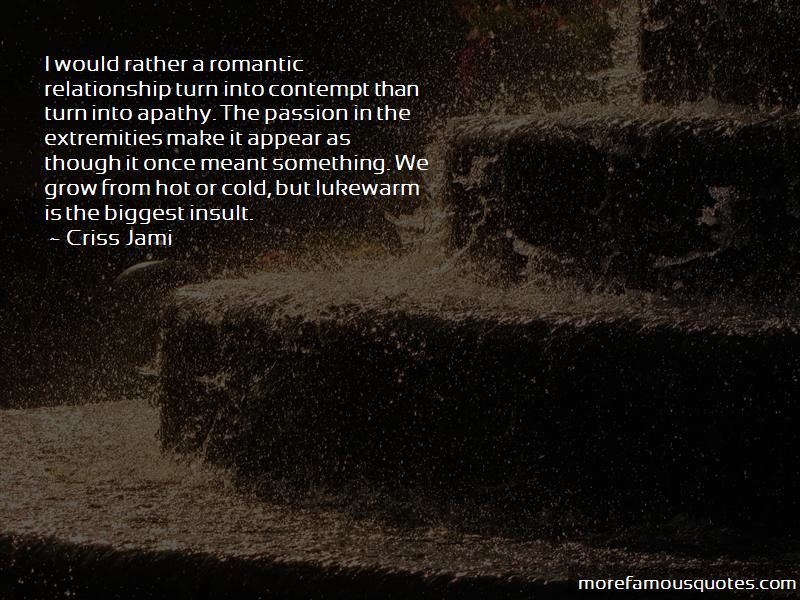 Lukewarm Relationship Quotes