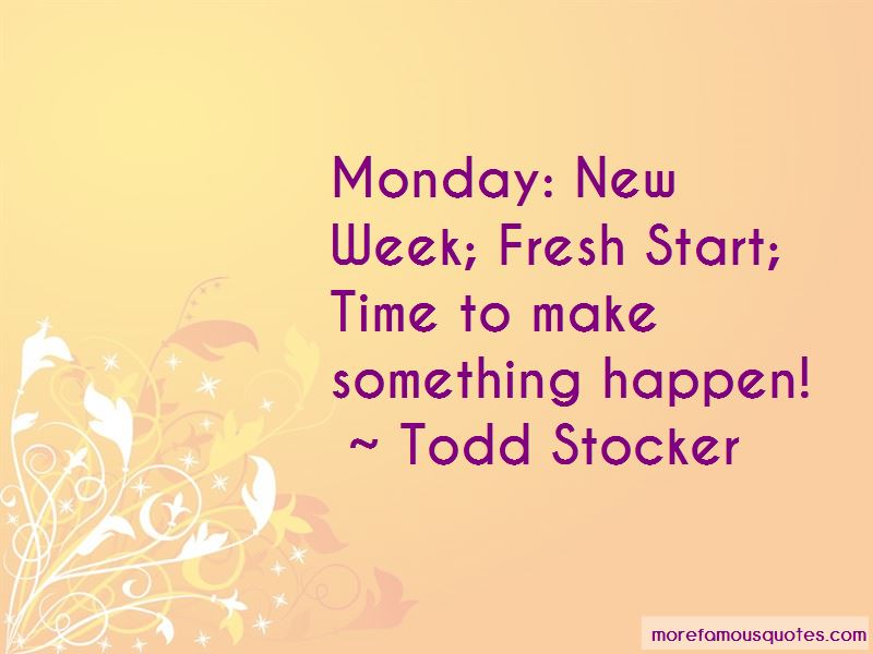 Monday Fresh Start Quotes