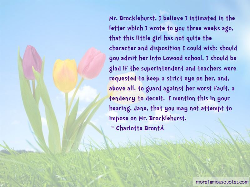 Mr Brocklehurst Character Quotes