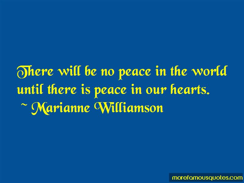 Peace In Our Hearts Quotes