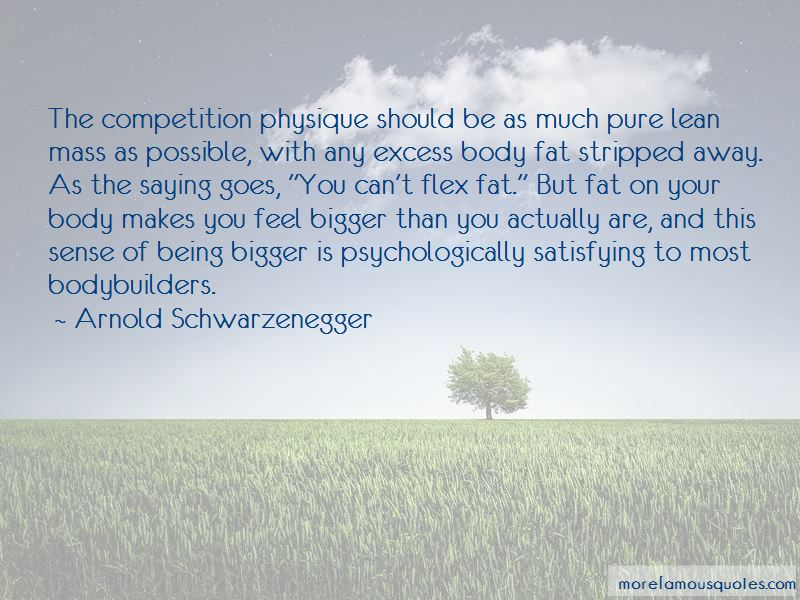Physique Competition Quotes
