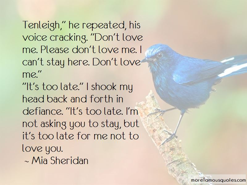 Please Don't Love Me Quotes