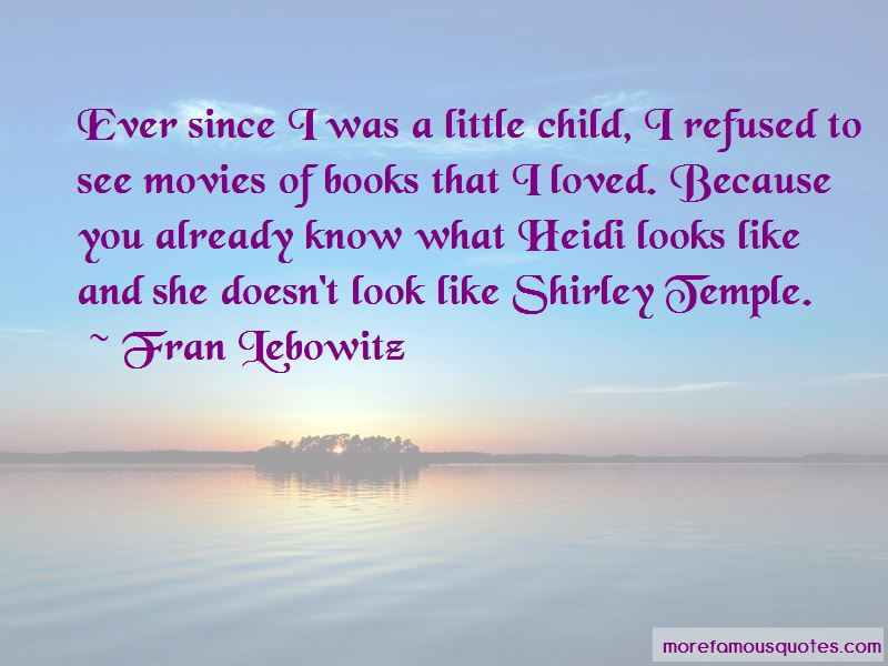 Shirley Temple Heidi Quotes
