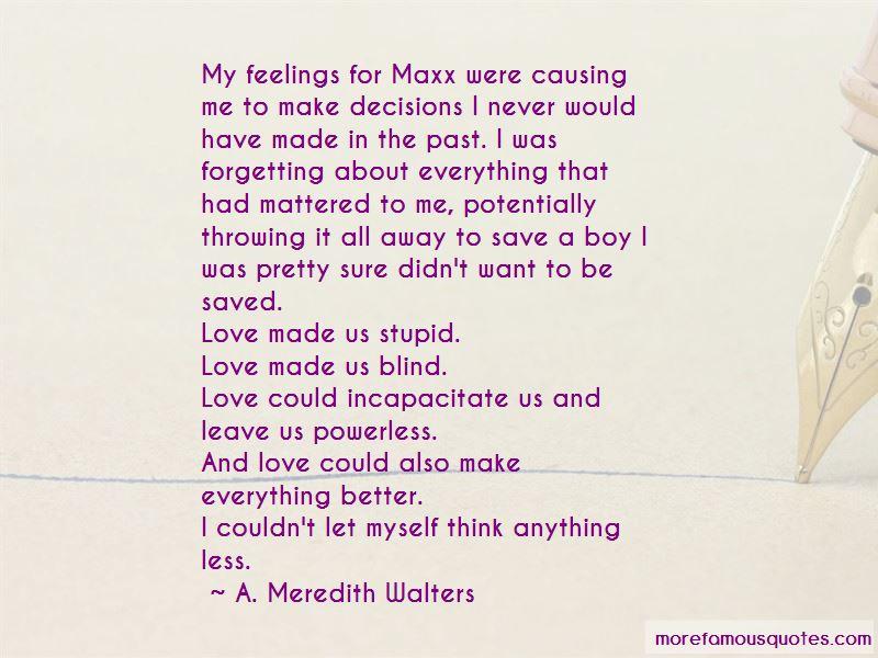 Stupid Boy Love Quotes
