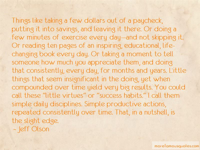 The Slight Edge Book Quotes Pictures 2