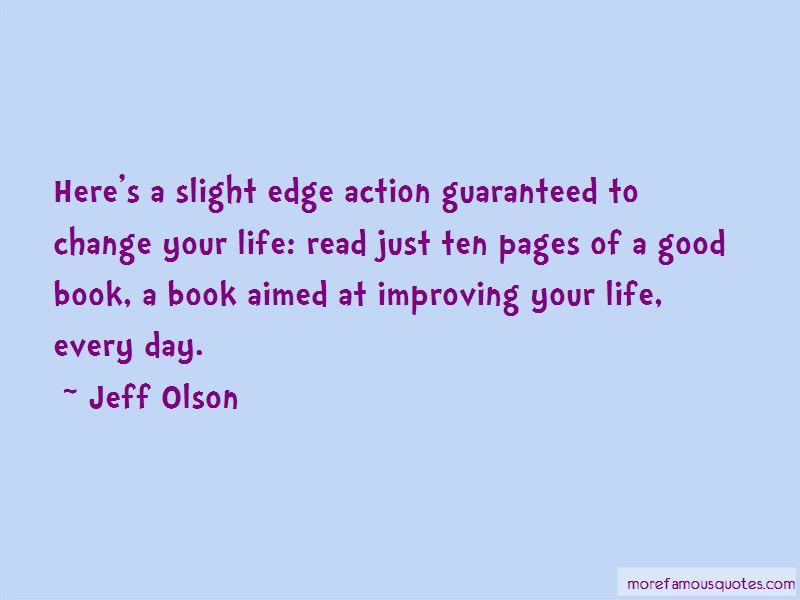 The Slight Edge Book Quotes