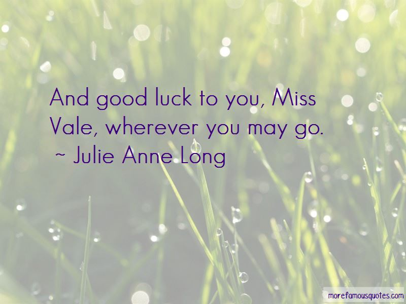 Wherever You May Go Quotes