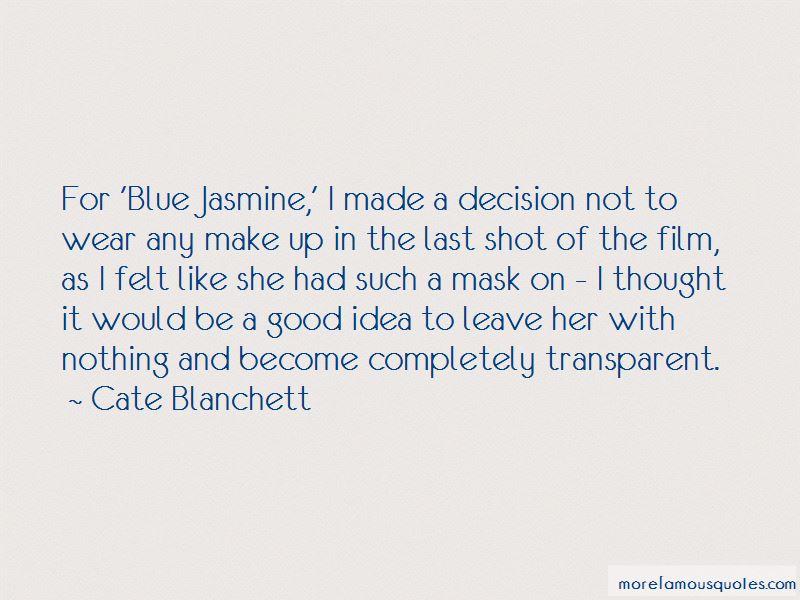 Blue Jasmine Quotes