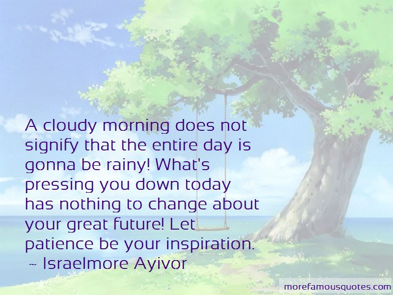 Cloudy Morning Quotes