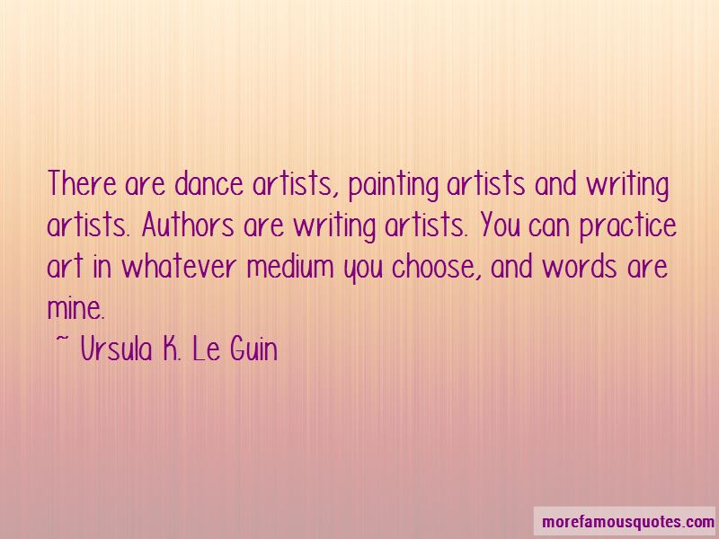 Dance Artists Quotes
