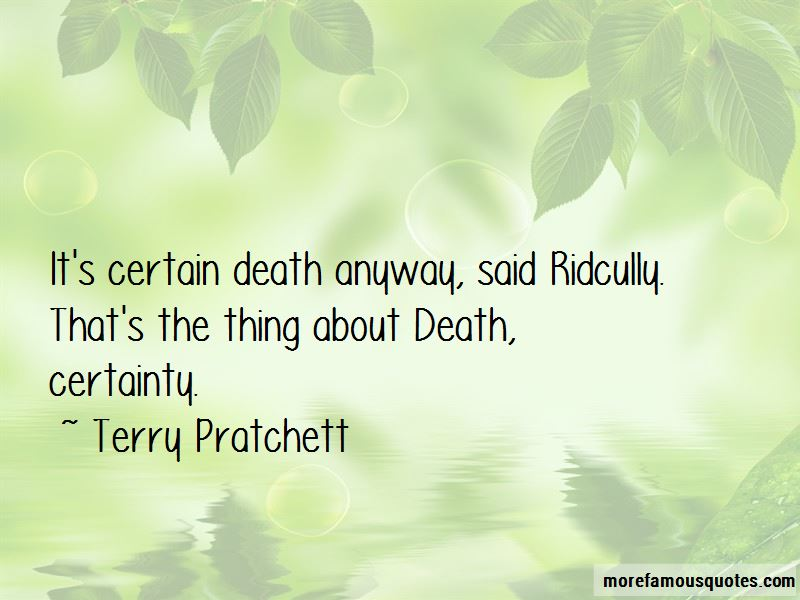 Death Certainty Quotes