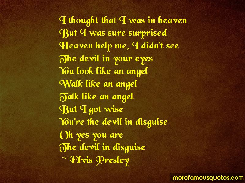 Devil In My Eyes Quotes