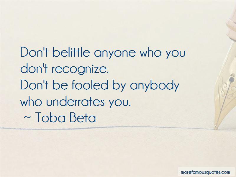 Don't Belittle Quotes